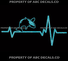 Vrs Heart Beat Line Killer Whale Ocean Orca Dolphin Mammal Flip Car Metal Decal