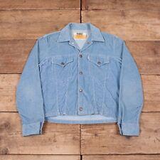 "Hombre Vintage Levis blanco Tab Big E 1960s Azul Chaqueta De Pana pequeño 36"" XR 8264"