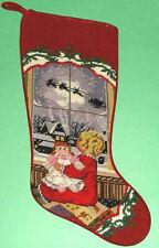 Sferra Girl At Window Needlepoint Christmas Stocking Handmade New