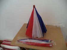 2  Novelty Umbrella Hat Red White & Blue NWT