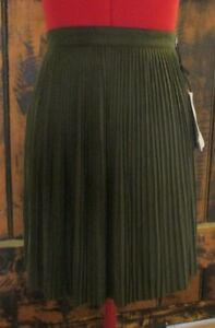 """""""COTTON ON"""" LADIES SUEDETTE PLEATED SKIRT *NEW WITH TAGS* RRP $39.95 SIZE 12"""