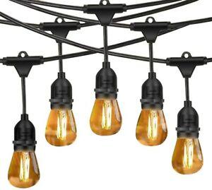 Outdoor String Lights LED, 48ft Heavy Duty Waterproof for Party Garden Gazebo UK