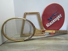 Vintage SLAZENGER tennis racket, vintage wall decor, vintage man cave decor