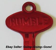 VINTAGE HUMBLE OIL CO KEY BLANK CHEVY PONTIAC OLDS BUICK GM 1935-1966 B10 RED