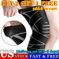 Weaving Knee Sleeve Brace Pad Support Stabilizer Sports Gym Running Joint Pains