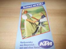 Werbung Prospekt KTM Fahrräder