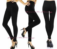 Ladies High Waist Tummy Control Winter Warm Thick Thermal FLEECE Lined Leggings