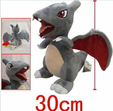 "12"" Pokeman Black (Shiny) Charizard Plush Stuffed Doll Toy Kids Xmas Gift New"