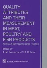 Quality Attributes and Their Measurement in Meat, Poultry and Fish Products 9...