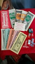 Vtg Milton Bradley LIFE Board Game Card Play Money Insurance Part Piece Replace
