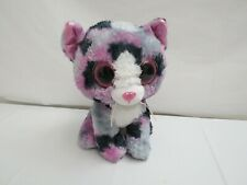 TY BEANIE BOO LINDI MULTI COLORED CAT KITTEN LARGE EYES