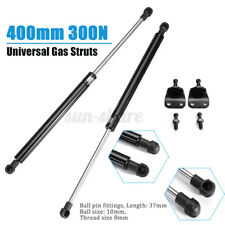 2pcs 400mm 300N Lift Support Gas Struts Spring Kit & Brackets Bolts Auto Car
