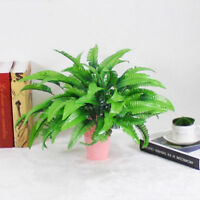 Artificial Fern Bouquet Silk Plants Fake Persian Leaves Foliage Home Decor NEW