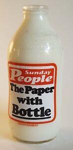 RETRO MILK BOTTLE UNIGATE 80s ADVERTISING SUNDAY PEOPLE - KITCHEN MEMORABILIA