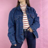 Vintage Levis Dark Wash Denim Trucker Jacket 1992 Mens Size XLarge Unisex