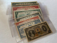 Old Taiwan Banknote Lot Japan Era