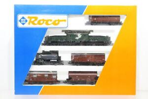 H0 Roco 43043 Zugset Güterzug mit Be 6/8 II Krokodil Elektrolok analog +OVP/J3