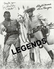 """Lone Ranger & Tonto Autographed by both  B & W Large Reprint 11"""" x 14"""""""