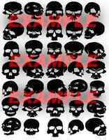 Cerakote Duracoat Skulls Type B Stencil Vinyl Paint Camouflage Camo Home DIY