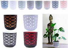 More details for plant pots aztek modern large small medium round decorative plastic holder