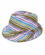 Ladies Summer Striped Multi Color Sequin Fedora Hat (H5635) 53a8eeeb54df