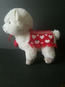 Hallmark Plush Love Llama Heart Red Knit Saddle Blanket Collar Stuffed Animal