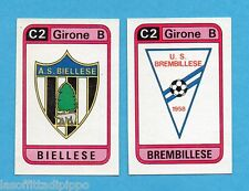 PANINI CALCIATORI 1983/84 -Figurina n.560- BIELLESE+BREMBILLESE - SCUDETTO -Rec