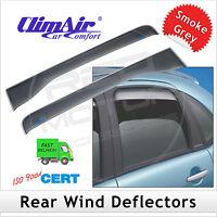Climair noir teinté vent déflecteurs mitsubishi L200 double cabine 2006-2015 set