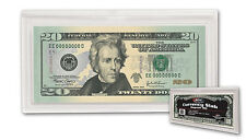 Currency Slab - Regular Bill, Ticket Holder or Outsize Trading Card Holder