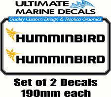Humminbird Fishing Boat Tacklebox Sticker Decal Set, 190 x 25mm each