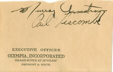 1944 Murray Ar 00006000 mstrong Carl Liscombe Detroit Red Wings Autographs!