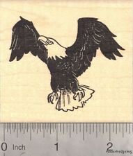 Bald American Eagle Rubber Stamp, July 4th J17504 Wood Mounted