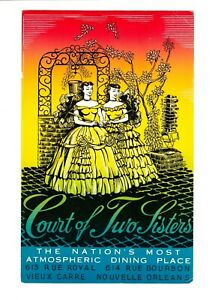 COURT OF TWO SISTERS,The Nation's Most Atmospheric DiningPlace,Postcard,Unposted