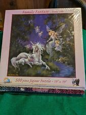 """New SunsOut 500 piece Puzzle; """"Family Fantasy"""""""
