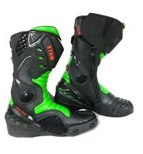 XTRM Core Moto Moto Racing Sports Armadura Botas Todo Verde Size UK 11