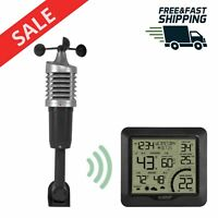 Wireless Home Weather Station Wind Speed 3in1 Sensor temperature Digital display