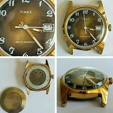 Vintage Mid Size Timex Manual Wind Rose Degraded Dial Watch Head Only - GB Made