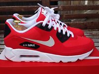 Nike Air Max 90 Ultra Essential Size 10 Uk Men's Action Red 819474-600