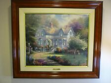 """Thomas Kinkade, """"Home is Where the Heart Is"""" 20"""" X 24"""" S/N Limited"""