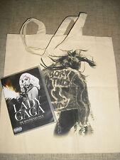 LADY GAGA - MONSTER BALL TOUR DVD + BORN THIS WAY PROMO BAG   NO MILLION REASONS
