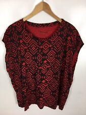 TWIN TIP T-Shirt, rot schwarz, Größe XL, Baumwolle