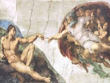 Michaelangelo the Creation of Adam-Full Version Fine Art Canvas Giclee Sample