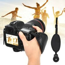Black PU Leather Hand Wrist Strap Holder Grip for Canon for Sony DSLR Cameras