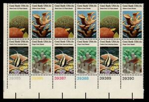 ALLY'S STAMPS US Plate Block Scott #1827-30 15c Coral Reefs [12] MNH F/VF [A-LL]