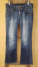 Hudson womens 28 signature bootcut elm blue denim jeans flapped pocket