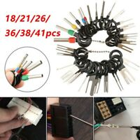 18-41Pcs Wire Terminal Removal Tool Kit Car Electrical Wiring Crimp Connector