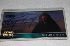 Ray Park autographed Star Wars Episode 1 Jedi VS. Seth H-14 card