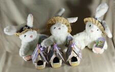New Lot of 3 Bunny Rabbits and Gifts for Easter baskets