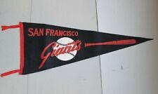 Vintage 1964 San Francisco Giants Baseball Black with Orange Bat Pennant Banner