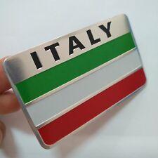 1pcs Silver Italy Flag 3D Car Auto Emblem Badge Decal Sticker Aluminum alloy